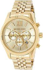 MICHAEL KORS MK8281 Lexington Gold Tone Stainless Steel Chronometer Unisex Watch