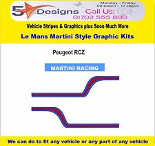 Peugeot RCZ Le Mans Martini Race Rally Logo Graphics Special Order