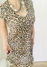 CHARLIE BROWN WOMENS PRINTED DRESS Above KNEE LENGHT Tailored SZ 16