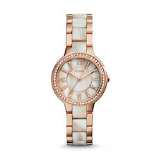 FOSSIL ES3716 Virginia Rose-Tone Horn Acetate Stainless Steel 30mm Ladies Watch