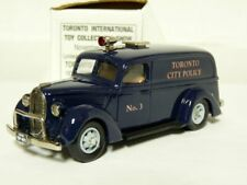 Durham DC-13 1/43 '39 Ford Paddy Wagon Toronto Police White Metal Handmade Model