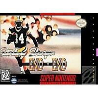 Sterling Sharpe: End 2 End Super Nintendo Game SNES Used