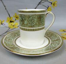 Superb green & gold Royal Doulton bone china English Renaissance COFFEE CAN/CUP.