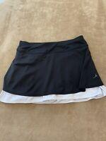 GSX Grand Slam Skort Skirt Shorts Tennis Activewear Black Womens Size Medium