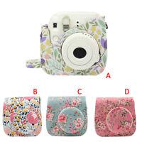 Camera Leather Case Shoulder Bag Cover For Fujifilm Instax Mini 8/9 Film Camera
