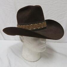 d071ef1cd3d Resistol Self-Conforming Stagecoach Men s Size 6 7 8 Brown Western Cowboy  Hat