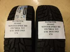 2 HANKOOK WINTER IPIKE RS 195 70 14 91T BRAND NEW WINTER PAIR 1014442