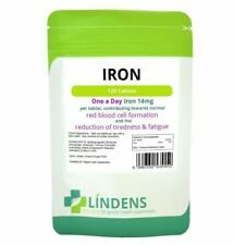 Lindens 5552 Iron 14mg Lindens Energy Anaemic Supplement - 120 Tablets