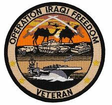 "Operation Iraqi Freedom Veteran Patch (513) 4"" Round Embroidered Patch 75027"