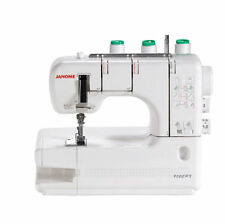 JANOME 1000CPX Cover Stitch Sewing Machine W/Cover & Free Shipping