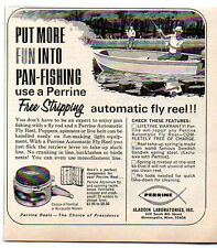 1966 Vintage Ad Perrine Automatic Fly Fishing Reels Aladdin Labs Minneapolis,MN