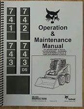 Bobcat 743 Operation Operator Maintenance Manual Book Hi Sn Skid Steer Loader