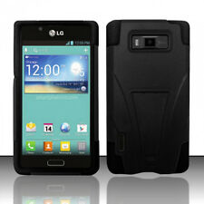 LG Optimus Showtime Advanced KICK STAND Silicone Case Phone cover