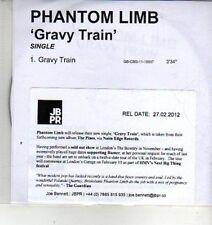 (CX190) Phantom Limb, Gravy Train - 2012 DJ CD