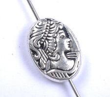 10pcs tibetan silver beautiful girl charm spacer beads 14MM JK0833