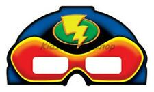 3D Superhero Party - 4 Masks with 3D Lenses - Boys Birthday - FREE POSTAGE IN UK
