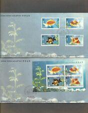 HONG KONG - '93 GOLD FISH (FDC+M/S FDC)