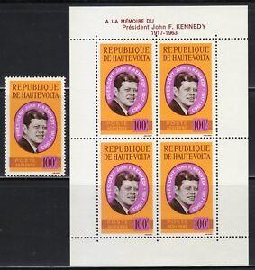 Burkina Faso 1964 MNH Sc C19-C19a President John F. Kennedy / USA **