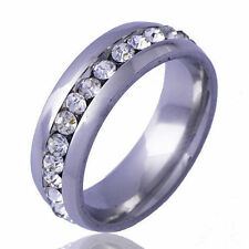 Womens Fashion Wedding ring White Gold Filled Crystal Rings Free Shipping Size 6