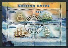 Rwanda 2013 CTO Sailing Ships 4v M/S I Tall Ships Boats Nautical Stamps