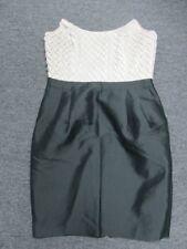 REISS Black Above Knee Back Zip Strapless Solid Causal Dress Sz 8 EE1806