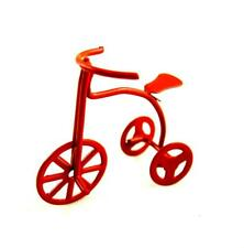 Dolls House Red Bike Child's Tricycle Miniature 1:12 Nursery Toy Shop Accessory