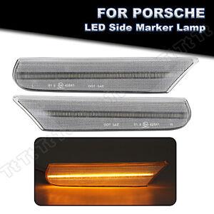 2x LED Side Marker Indicator Light For 98-04 Porsche 911 Carrera 996 Boxster 986