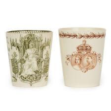 More details for two doulton burslem queen victoria jubilee beakers 1887/97