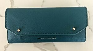 Anthropologie My Little Things Teal Wallet with Notepad