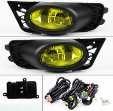 Honda Civic 09-11 4dr Sedan JDM Yellow Amber Front Fog Lights Pair RH LH Wiring