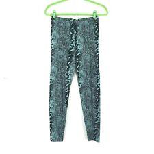 Bel Kazan Womens Large Snake Print Leggings Blue Black Full Length