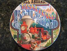 "Disney Parks ,Disneyland,  NEW 7"" Ceramic Plate Featuring, Disneyland Railroad"