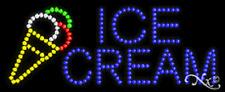 "NEW ""ICE CREAM"" 27x11 W/LOGO SOLID/ANIMATED LED SIGN W/CUSTOM OPTIONS 20077"