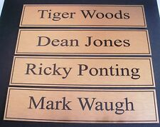 Design Your Own Plaque 180mmx40mm Heading Name Postage