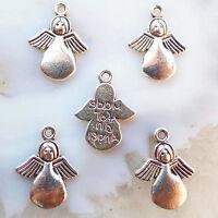 100pcs Tibetan Silver Angel Charm  Pendant Bead PJ071