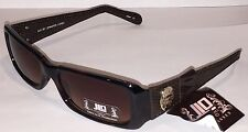 New JLO by Jennifer Lopez Womans Sunglasses Brown Frames, Snakeskin Arms + Pouch