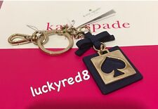 NEW Kate Spade Cut Out Spade Key Chain Ring Fob Charm in Oceanic Blue/Light Gold