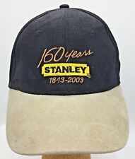 Stanley Tools 160 years 1843-2003 Embroidered Leather Brim Strapback Hat Cap