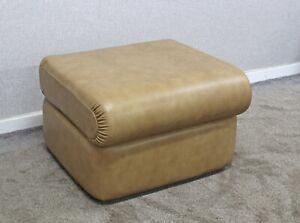 (106) G Plan Regent Sand Leather K004 Footstool