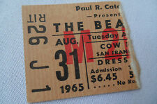 BEATLES Original__1965__CONCERT TICKET STUB__NM-__Cow Palace, SF