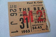 BEATLES Original__1965__CONCERT TICKET STUB__Cow Palace__EX++