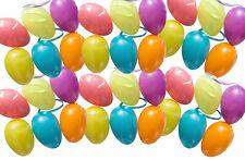60 Ostereier 7cm pastell Farben - Osterei Plastik, Kunststoff, Plaste