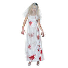 Totally Ghoul  Zombie Bride Bridal Gown Dress Women's Halloween Costume  8-14 XL
