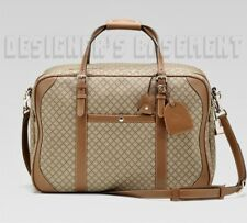 GUCCI brown beige DIAMANTE large DUFFEL carry-on Suitcase bag NWT Authentc $2990