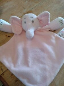 Tesco F & F comfort blanket soother pink gingham baby soother comfort blanket