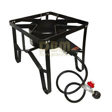 Portable Camping Single High Pressure Propane Bbq Gas Stove Burner Cook Cooking