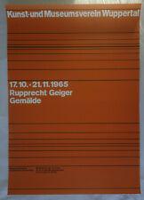 Plakat Poster - Ausstellung Rupprecht Geiger 1965 - Wuppertal - konkrete Kunst