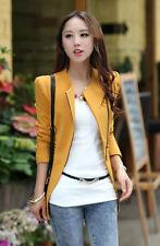 Damen Jacke Korea Schlank Blazer Reißverschluss S-2XL Mäntel Mode lange Ärmel