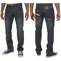 Mens NEW Enzo Jeans in Dark Wash Straight Fit Jeans Sizes 28 - 42