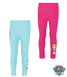 Girls Sweat Pants Capri Pants Leggings Pants Paw Patrol Pink Turquoise 92-128#
